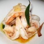 Sautéed shrimp, garlic, guindilla pepper