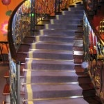 The grand staircase at Le 114 Faubourg