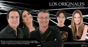 Los Originales, the most popular radio show in South America, airs daily on La X 103.9 FM in Colombia