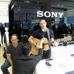 Singer Mark Ballas provided entertainment at the Sony store launch party