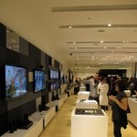The new Sony store invites visitors to sample their 3D TVs