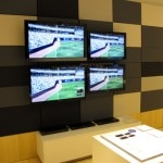 HD TVs on display at the Sony store
