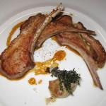 L'Agneau de lait: Lamb chops with thyme