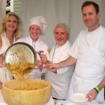 Chefs Celestino Drago & Ian Gresik with Sophie Gayot