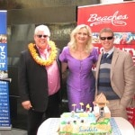 "Gordon ""Butch"" Stewart Chairman & Founder of Sandals Resorts International, Sophie Gayot, Adam Stewart CEO of Sandals Resorts International"