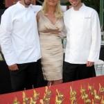 Rory Herrmann (left), Mark Hopper (right) - Bouchon restaurant Beverly Hills