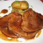 Beef tongue in sauce diable