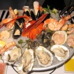 Shellfish platter from the raw bar