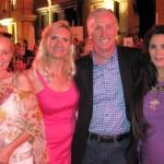 Tina Littlewood, Sophie Gayot, publicist Michael Levine, Barbara Lazaroff