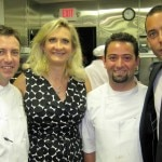 Executive chef Pascal Lorange, Sophie Gayot, the chef de cuisine, vice-president Greg Galy