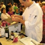 Winning sous chef Alexandre Derenne preparing his salad
