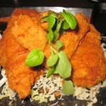 "Fried chicken ""blue ribbon style"": wasabi and honey"