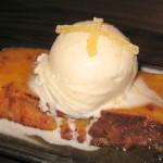Ginger bread pudding: ginger ice cream