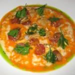 Market risotto: smoked garlic, radish and reggiano