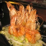 Salt & pepper shrimp: lemon ponzu & spicy lettuce