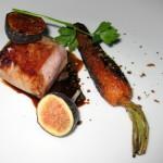 Veal sirloin: California shiitake, vadouvan and tomato confiture