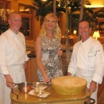 Chef de cuisine Luca Cesarini & Executive chef Jean-Pierre Dubray with Sophie Gayot