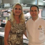Executive chef Philippe Labbé with Sophie Gayot
