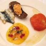 Julia Gosea's tomato and sardines