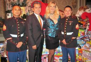 Hotel general manager Mehdi Eftekari with Marines & Sophie Gayot