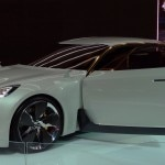 The Kia GT Concept on display at the Los Angeles Auto Show