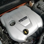 The engine of the Kia Optima Hybrid