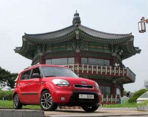 The Kia Soul in Seoul, South Korea