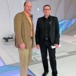 Kia Motors Chief Design Officer Peter Schreyer with Alain Gayot
