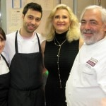 Alain Giraud, sous chef Jackie Mazzuca, baker/pastry chef Noubar Yessayan with Sophie Gayot
