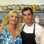 Executive chef Kevin Meehan with Sophie Gayot