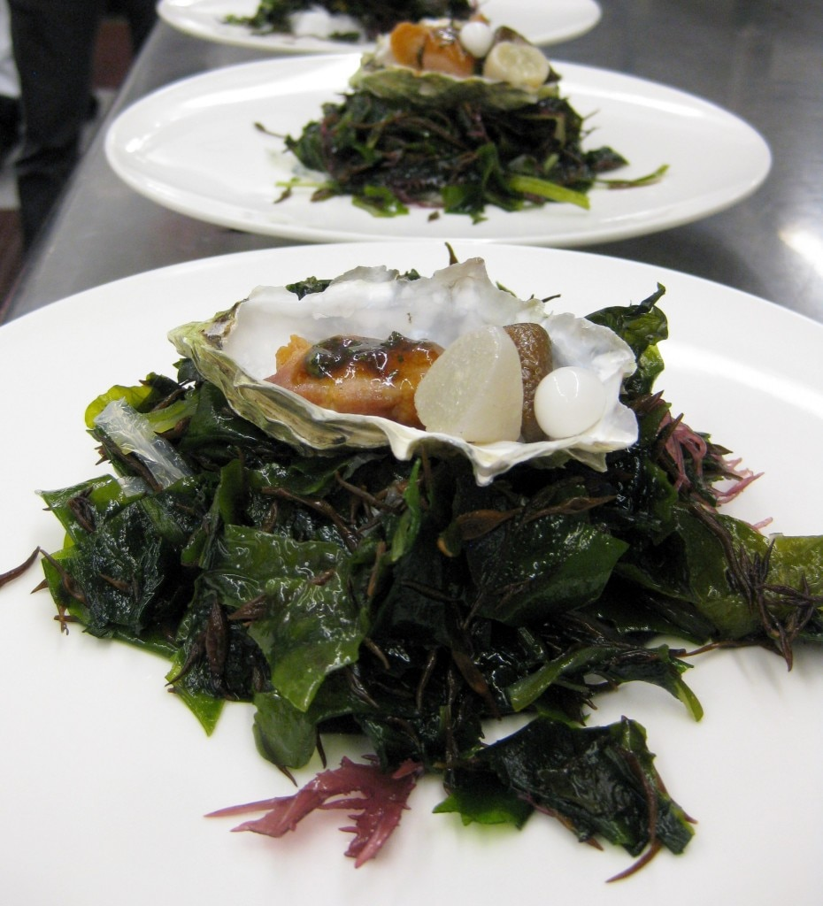 All Things Oyster: chicken, plant, mushroom, mignonette, coconut pearl, sea vapor