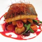 Branzino in Padella: sea bass with vegetables