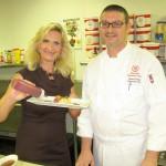Chef Orazio Parisi with Sophie Gayot