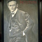 Harry Houdini on the mantle