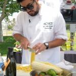 John-Carlos Kuramoto chopping his produce