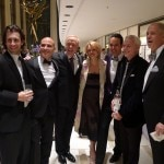 Patrick O'Connell of The Inn at Little Washington, David Bouley of Brushstroke and Gary Danko of Gary Danko celebrating with friends