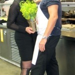 Chef Mark Gold with Sophie Gayot