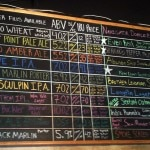 Ballast Point's extensive beer menu