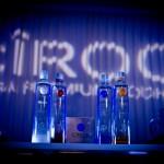 Bottles of Ciroc vodka