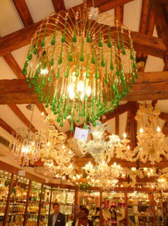 Murano glass chandeliers