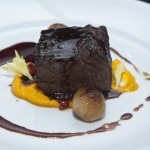 Beef short rib, carrot purée and red wine reduction