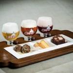 Pre-tasting of beer and food pairing for Belgian Beer Weekend in Brussels' Stock Exchange