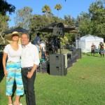 Santa Monica mayor Richard Bloom with Sophie Gayot