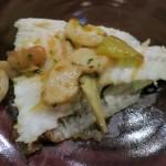 Grilled turbot, sepia, chorizo, saffron