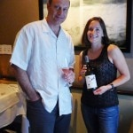 Winemaker Laura Díaz Muñoz with Alain Gayot