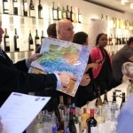 Pointing to the Languedoc-Roussillon region on a map