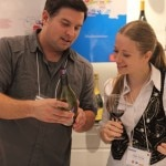 Guests learn about the many wine varietals at the Roussillon Wine Tasting