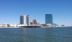 A view of Atlantic City from the water