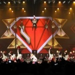 Madonna performs on stage in Historic Boardwalk Hall