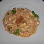 Risotto with Maryland crab, preserved lemon, leeks and ginger from Wolfgang Puck's American Grille